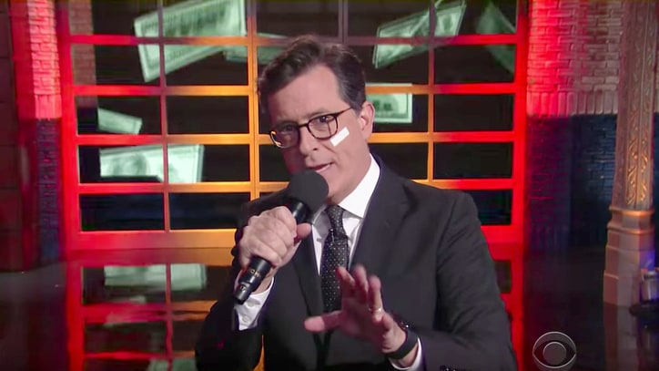 Watch Stephen Colbert School Nelly on Tax Law With 'Debt in Herre'