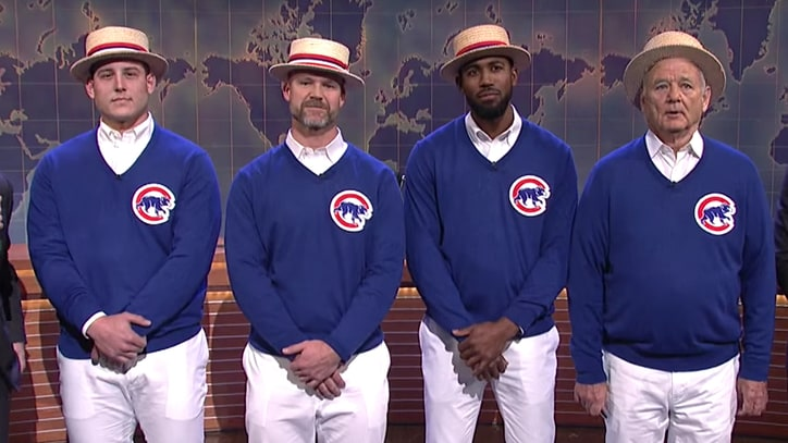Watch Bill Murray, Chicago Cubs Sing Celebratory 'Go Cubs Go' on 'SNL'