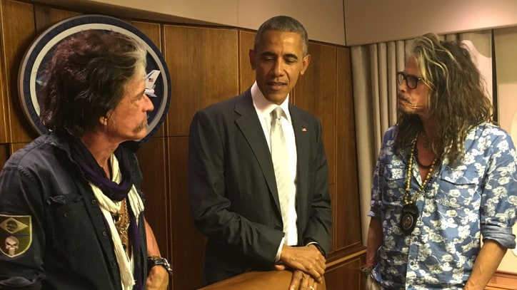 Aerosmith Meet Barack Obama By Chance at Florida Airport