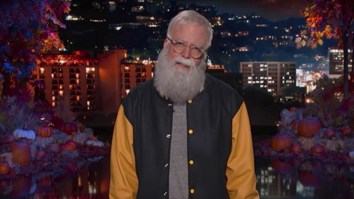 See Dave Grohl Dress as David Letterman to Guest Host 'Kimmel' on Halloween