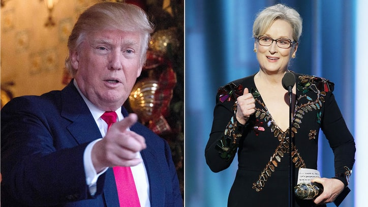 Donald Trump Blasts 'Overrated' Meryl Streep for Golden Globes Speech