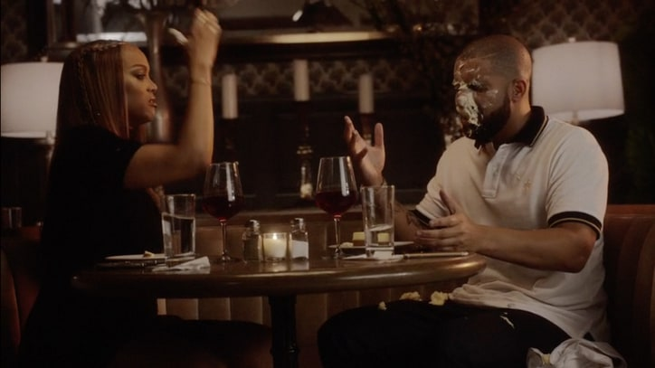 See Drake, Tyra Banks Argue at Cheesecake Factory in 'Childs Play' Video