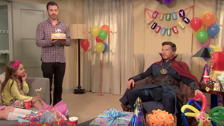 Watch Doctor Strange Struggle as Kids' Party Magician on 'Kimmel'