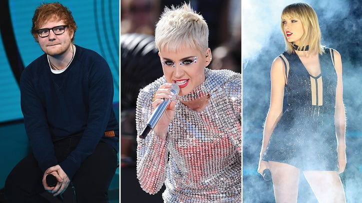 Ed Sheeran Weighs In on Taylor Swift, Katy Perry Feud