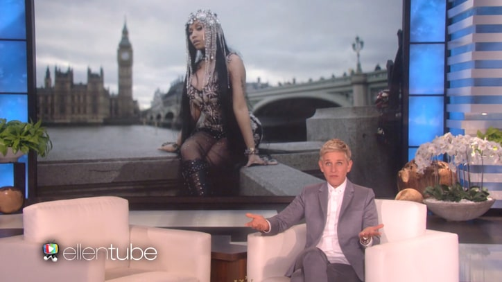 Watch Ellen DeGeneres on Unlikely Role in Nicki Minaj, Remy Ma Feud