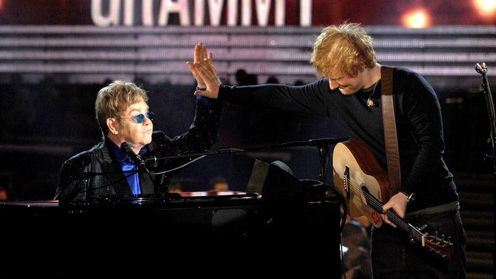 Elton John on Protege Ed Sheeran: 'He's Got a Lot of Balls'