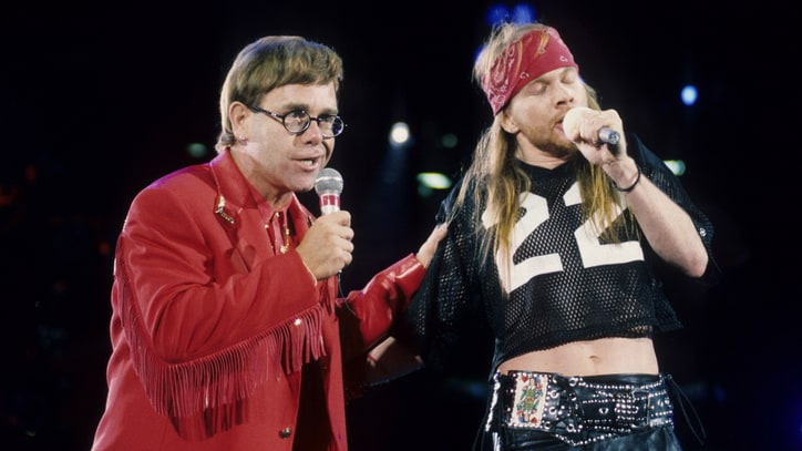 Flashback: Elton John, Axl Rose Play 'Bohemian Rhapsody' With Queen