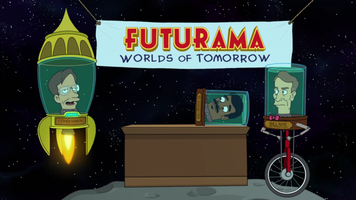 Stephen Hawking, George Takei, Bill Nye, and Neil DeGrasse Tyson star in 'Futurama: Worlds of Tomorrow'