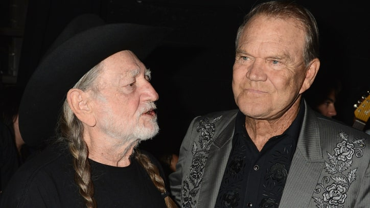 Hear Glen Campbell, Willie Nelson's Moving 'Funny How Time Slips Away'