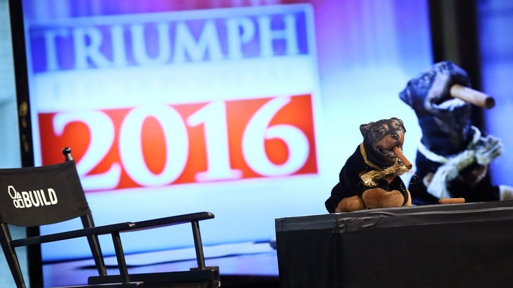 Triumph the Insult Comic Dog Taunts RNC Attendees