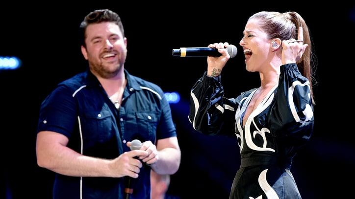 Chris Young, Cassadee Pope Tease Possible Future Duet at Nashville Party