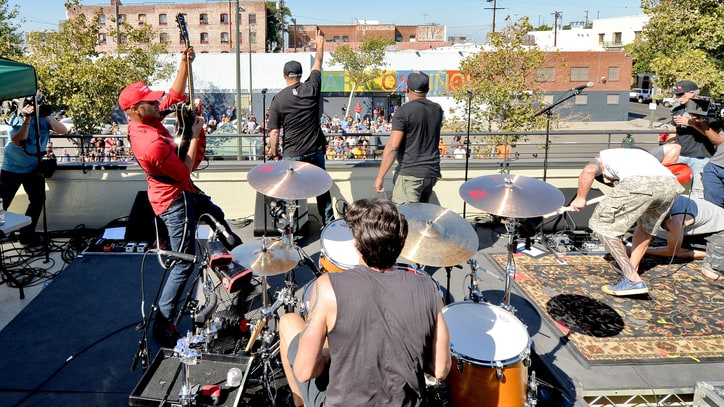 Watch Prophets of Rage Play Rooftop Show on Los Angeles' Skid Row