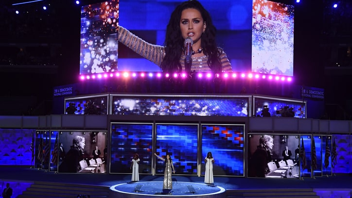 Watch Katy Perry 'Rise' and 'Roar' for Hillary Clinton at DNC