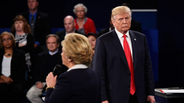 Trump at the Second Presidential Debate Was a Hot, Creepy Mess