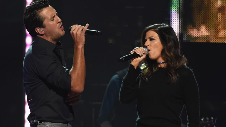 See Luke Bryan, Karen Fairchild Sing Sexy 'Home Alone Tonight' for CMT