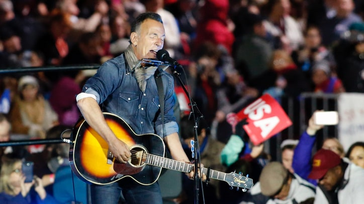 See Bruce Springsteen Perform Solo Set, Rip Trump at Clinton Rally