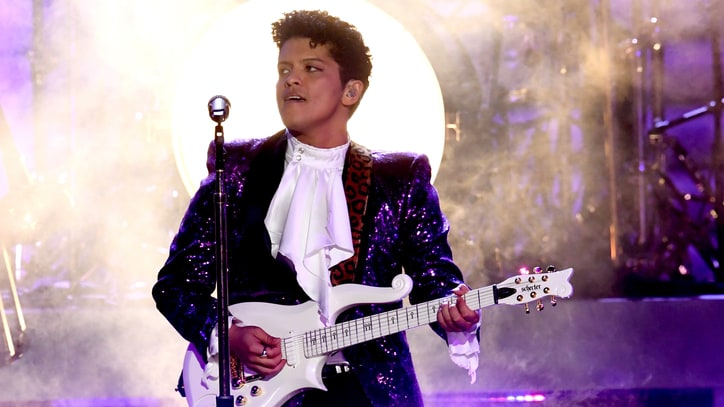 Watch Bruno Mars, the Time's Searingly Funky Prince Tribute at Grammys