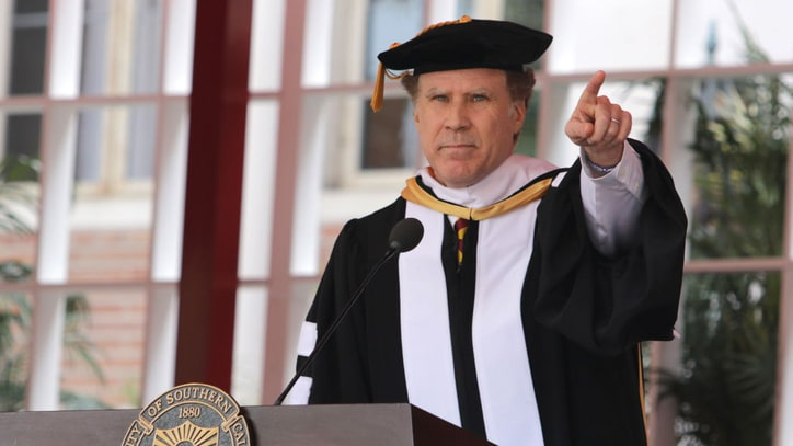 See Will Ferrell Sing Whitney Houston at USC Commencement
