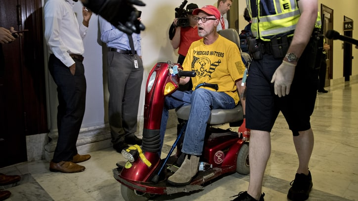 Why Disability Rights Activists Stormed Mitch McConnell's Office