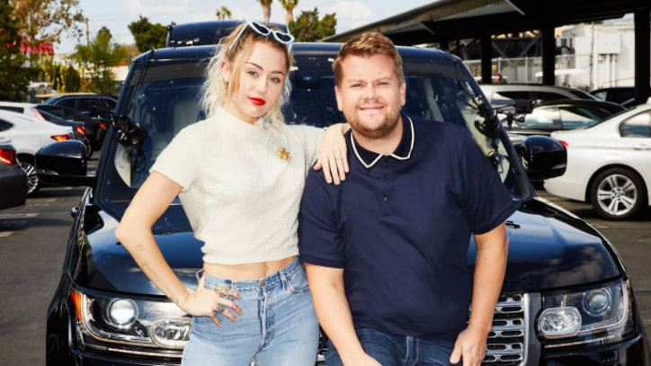 'Carpool Karaoke': Miley Cyrus Sings Hits, Talks Poor Driving Skills