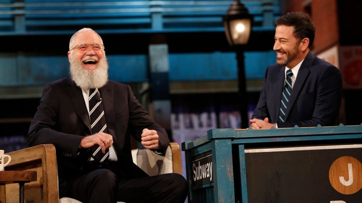 Watch David Letterman Return to Late Night TV on 'Kimmel'
