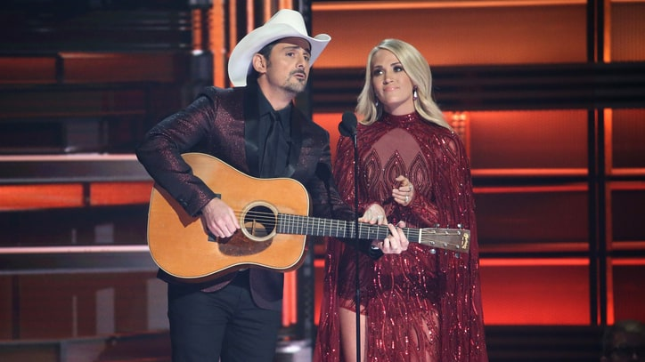 See Carrie Underwood, Brad Paisley Roast Trump's Tweets in CMA Monologue