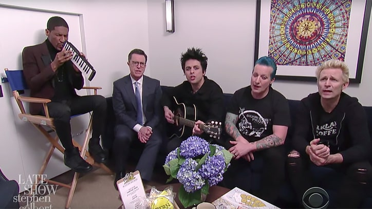 See Green Day Sing Affordable Version of 'Good Riddance' on 'Colbert'