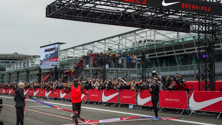 Nike Runner Eliud Kipchoge Just Misses Breaking Two Hour Marathon