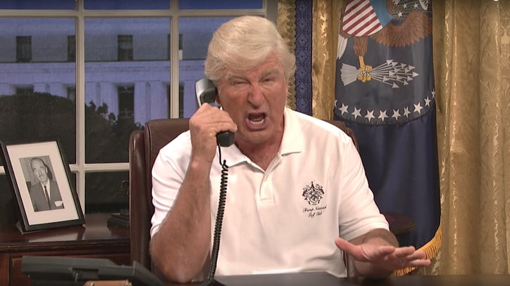 Watch Alec Baldwin's Donald Trump Bring Chaos to 'SNL' Premiere