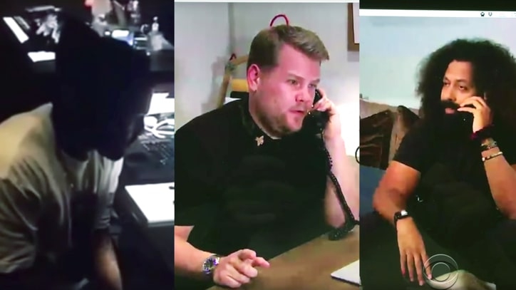 Watch James Corden Parody Kanye West, Taylor Swift's 'Famous' Phone Call