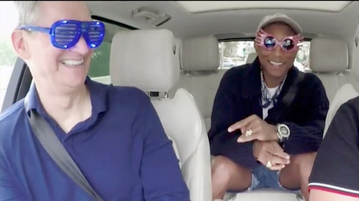 Watch Pharrell, James Corden, Apple's Tim Cook Do 'Carpool Karaoke'