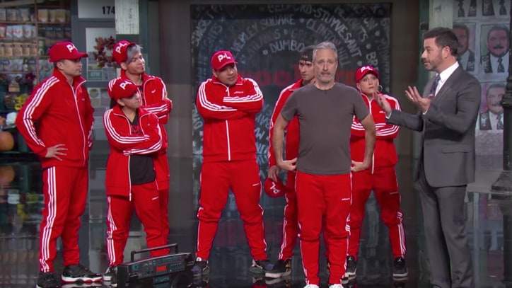 Watch Jon Stewart, Breakdancing Crew Invade 'Kimmel'