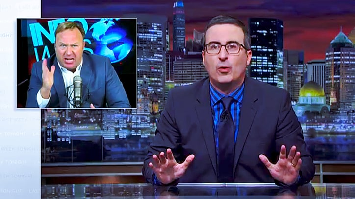 John Oliver Mocks Alex Jones For Using Fear to Upsell 'Taint Wipes'