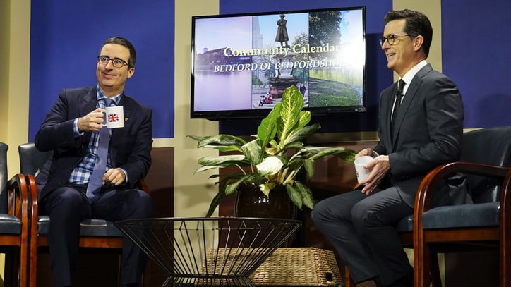 Watch John Oliver, Stephen Colbert Spoof Public Access Show