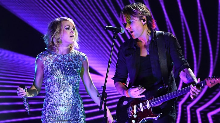 See Keith Urban, Carrie Underwood's Flashy 'Fighter' at Grammys