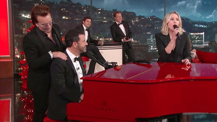 Watch Bono, Diddy, Bryan Cranston Sing 'We're Going to Hell' on 'Kimmel'