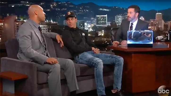 Watch Lonzo and LaVar Ball Talk College Star's NBA Future on 'Jimmy Kimmel'