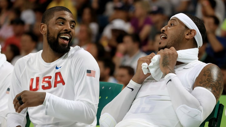 See Carmelo Anthony, Kyrie Irving in Unstoppable Pickup Basketball Game