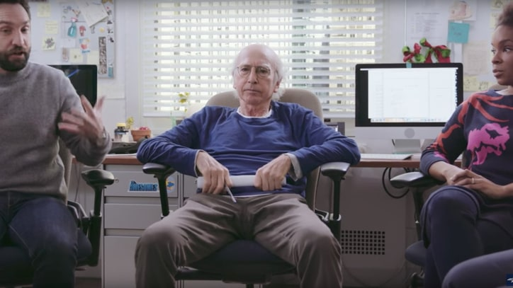 See Larry David Hijack Seth Meyers' Writing Staff in 'Late Night' Sketch