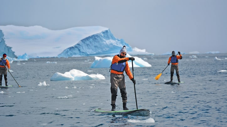 Paddleboarding the Seventh Continent