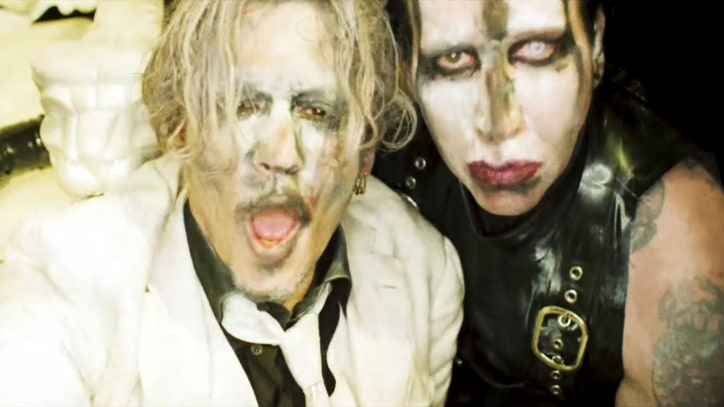 Watch Johnny Depp Join Marilyn Manson in NSFW 'Say10' Video