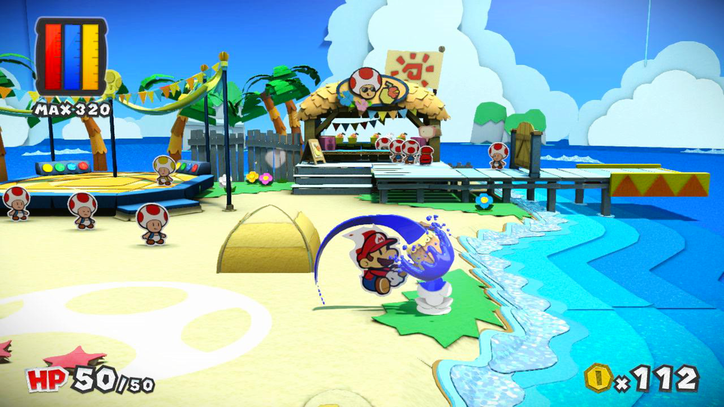Review: 'Paper Mario: Color Splash' Paints by Numbers