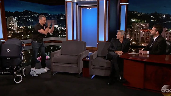 Matt Damon Debuts George Clooney's 'Twins' as He Crashes Jimmy Kimmel Live