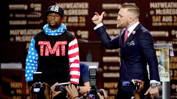 Conor McGregor v Floyd Mayweather Verbally Spar: Who Won First Round of Press Match?