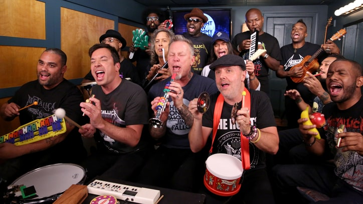 Watch Metallica Play Joyous 'Enter Sandman' With Toys on 'Fallon'