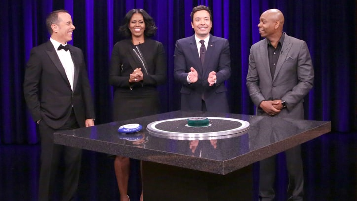 Watch Michelle Obama Command Catchphrase on 'Fallon'