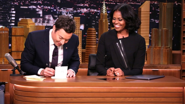 Watch Michelle Obama Thank President For Being Her 'Silver Fox' on 'Fallon'