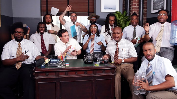 See Migos, Jimmy Fallon, Roots Perform 'Bad and Boujee' With Office Supplies