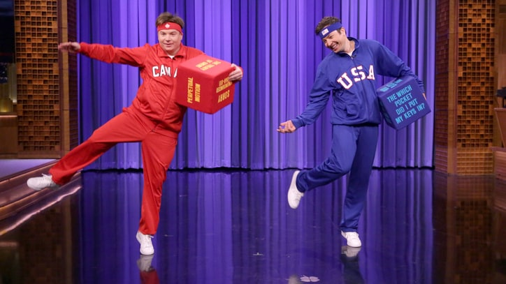 Watch Mike Myers, Jimmy Fallon Stage Goofy Canada v. U.S. Dance-Off