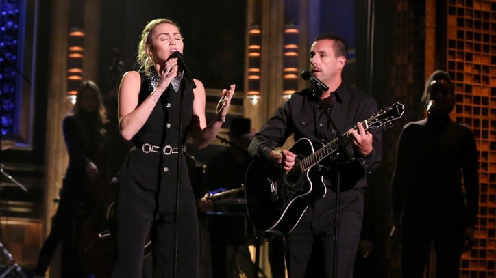 Watch Miley Cyrus, Adam Sandler Honor Las Vegas With Duet on 'Fallon'